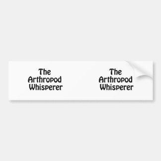 the arthropod whisperer car bumper sticker