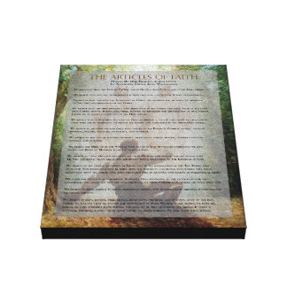 """""""The Articles of Faith"""" Painting Series Canvas Canvas Print"""