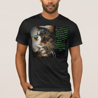 The Articulate Cat Wants a Cheeseburger T-Shirt