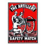 The Artillery Safety Match Post Card