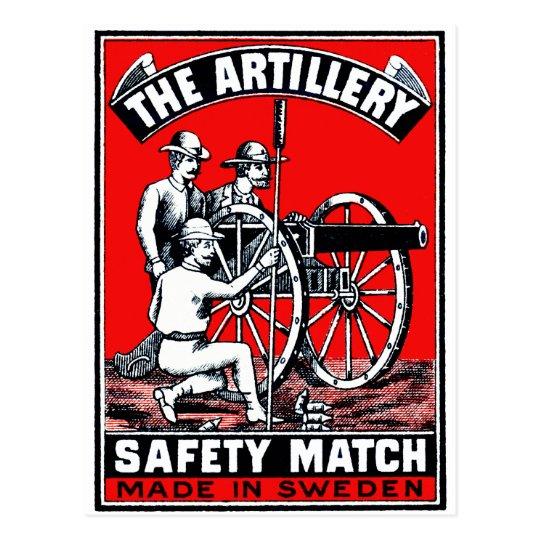 The Artillery Safety Match Postcard