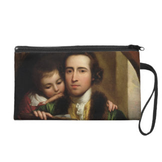 The Artist and his son Raphael, c.1773 (oil on can Wristlet