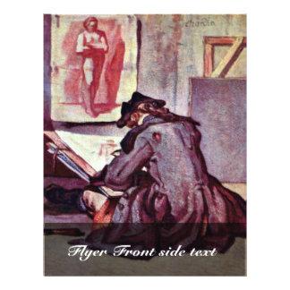 """The Artist By Chardin Jean-Baptiste Siméon (Best Q 8.5"""" X 11"""" Flyer"""