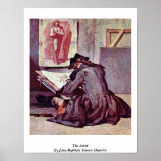 The Artist By Jean-Baptiste Simeon Chardin Poster
