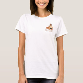 The Artist & Her Corgi by Doublefly Design T-Shirt