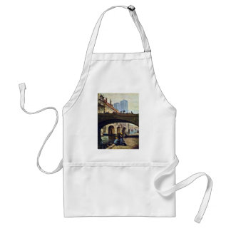 The Artist In Front Of Notre Dame By Daumier Honor Adult Apron