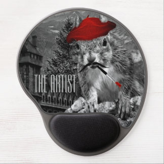 The Artist is a Squirrel in a Beret Gel Mouse Pad