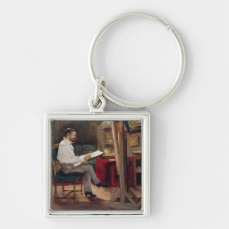 The Artist Morot in his Studio, c.1874 Keychain