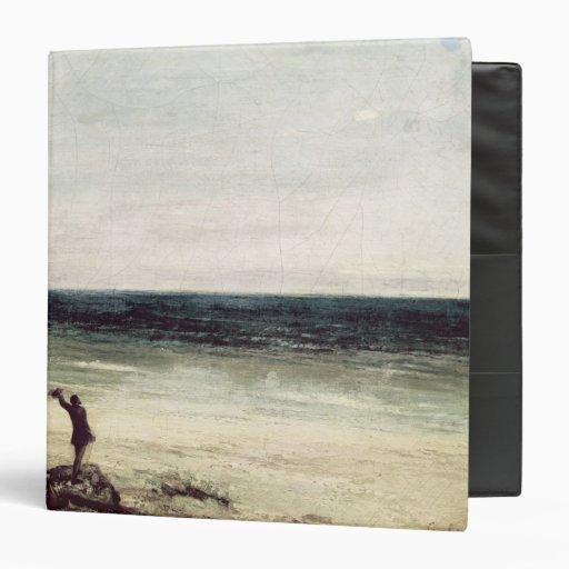 The Artist on the Seashore at Palavas Vinyl Binders