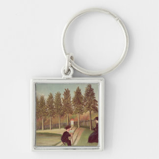 The Artist Painting his Wife, 1900-05 Keychain