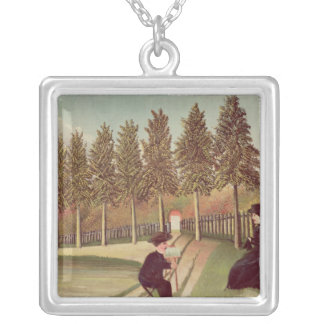 The Artist Painting his Wife, 1900-05 Silver Plated Necklace