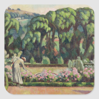 The Artist s Garden at Durbins c 1915 oil on can Square Stickers