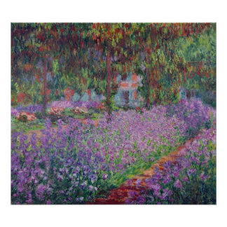 The Artist s Garden at Giverny 1900 Poster