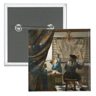 The Artist s Studio c 1665-66 oil on canvas Button