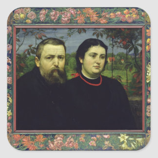 The Artist with his Wife Bonicella, 1887 Stickers