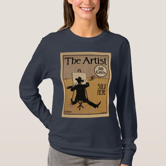The Artist W's longsleeved navy T-Shirt