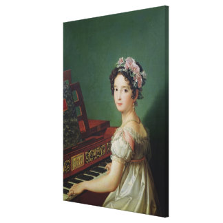 The Artist's Daughter at the Clavichord Canvas Print