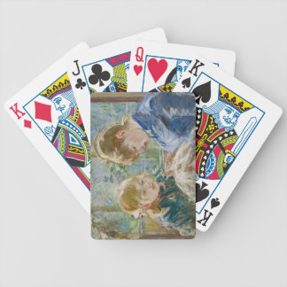 The Artist's Daughter, Julie, with her Nanny Bicycle Playing Cards