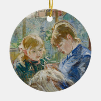 The Artist's Daughter, Julie, with her Nanny Ceramic Ornament