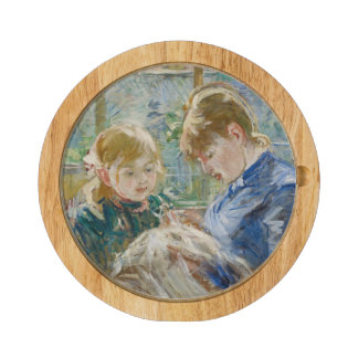 The Artist's Daughter, Julie, with her Nanny Cheese Platter