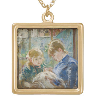 The Artist's Daughter, Julie, with her Nanny Gold Plated Necklace