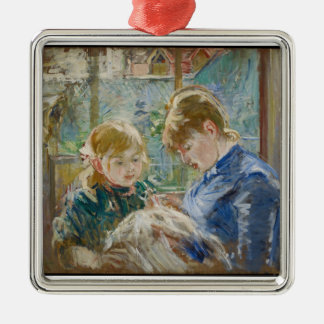 The Artist's Daughter, Julie, with her Nanny Metal Ornament