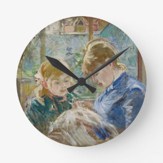 The Artist's Daughter, Julie, with her Nanny Round Clock