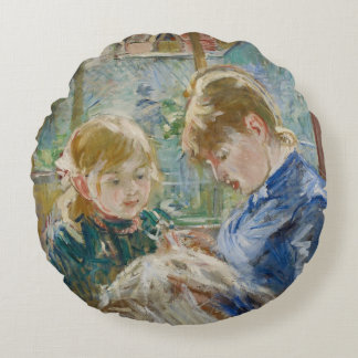 The Artist's Daughter, Julie, with her Nanny Round Pillow