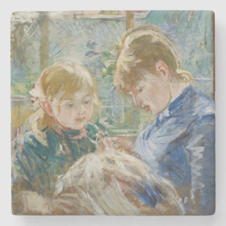 The Artist's Daughter, Julie, with her Nanny Stone Coaster