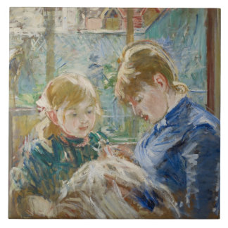 The Artist's Daughter, Julie, with her Nanny Tile