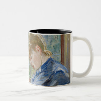 The Artist's Daughter, Julie, with her Nanny Two-Tone Coffee Mug