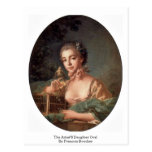 The Artist'S Daughter Oval By Francois Boucher Postcards