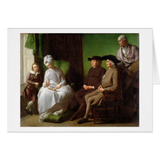 The Artist's Family (oil on canvas) Card