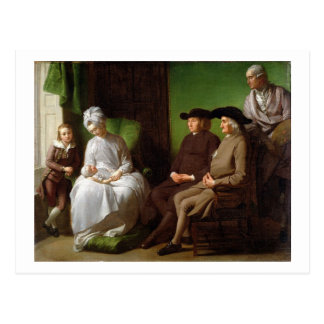 The Artist's Family (oil on canvas) Postcard