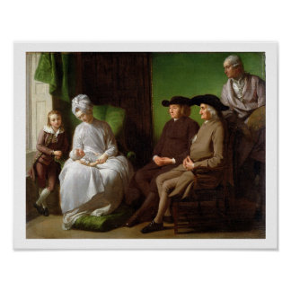 The Artist's Family (oil on canvas) Poster