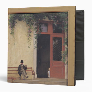 The Artist's Father and Son on the Doorstep 3 Ring Binder