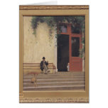 The Artist's Father and Son on the Doorstep Card