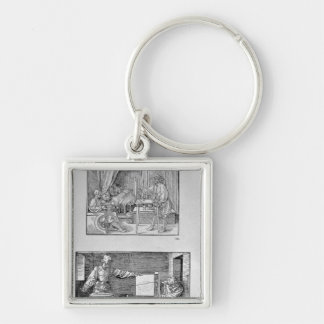 The artist's first technical book keychain