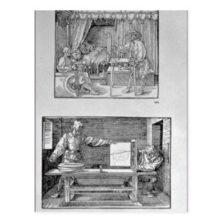 The artist's first technical book postcard