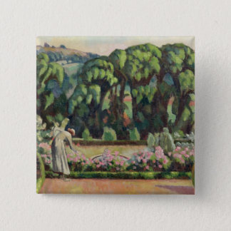 The Artist's Garden at Durbins, c.1915 (oil on can Pinback Button
