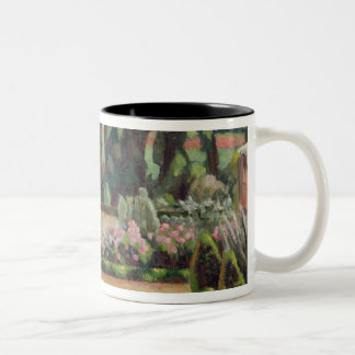 The Artist's Garden at Durbins, c.1915 (oil on can Two-Tone Coffee Mug