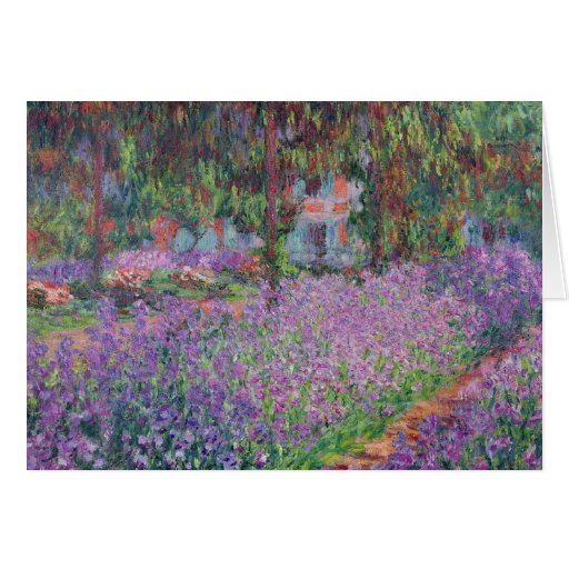 The Artist's Garden at Giverny, 1900 Greeting Card