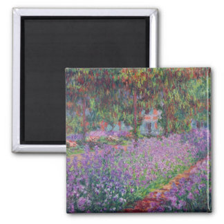 The Artist's Garden at Giverny, 1900 2 Inch Square Magnet