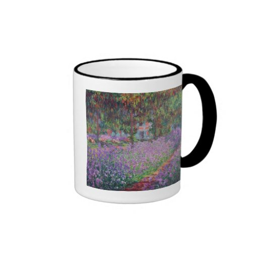The Artist's Garden at Giverny, 1900 Ringer Coffee Mug