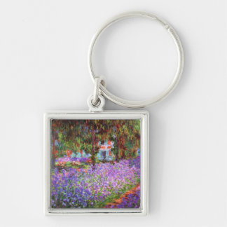 The Artist's Garden at Giverny by Monet Fine Art Keychain