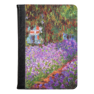 The Artist's Garden At Giverny By Monet Fine Art Kindle Case at Zazzle