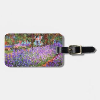 The Artist's Garden at Giverny by Monet Fine Art Tag For Luggage