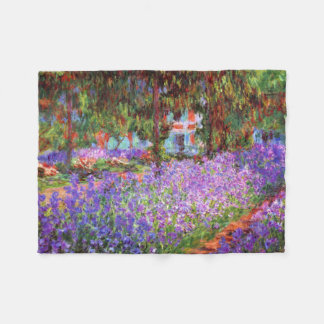 The Artist's Garden at Giverny by Monet Fleece Blanket