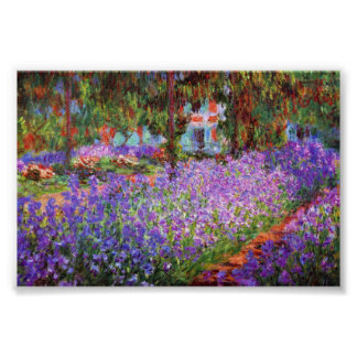 The Artist's Garden at Giverny by Monet Poster