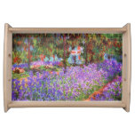 The Artist's Garden at Giverny by Monet Serving Tray